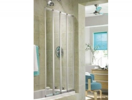 Aquarius 840mm x 1400mm - 4 Fold Bath Screen - Ideal For Small Bathrooms